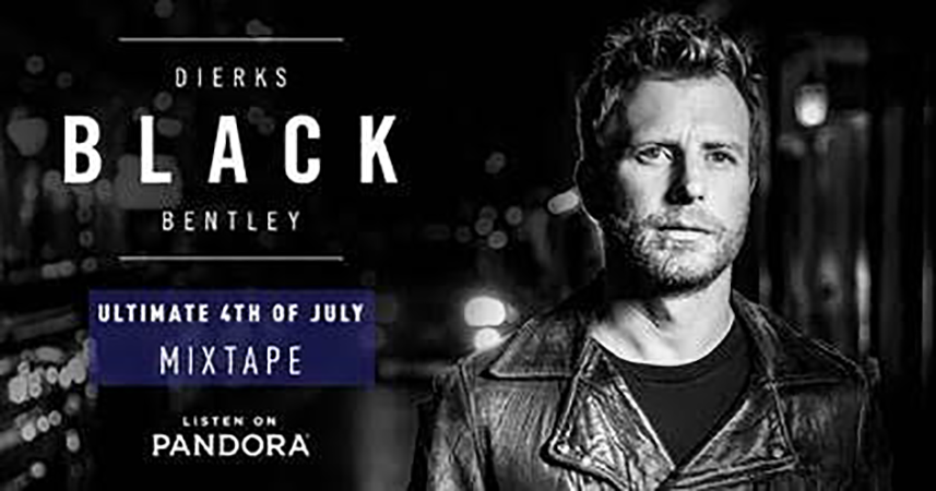 Dierks Bentley puts together his favorite songs into one massive 4th of July Pandora mixtape/playlist.