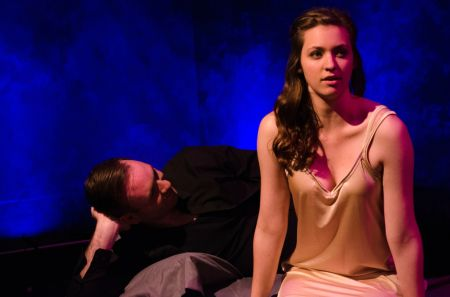 """Jenna McRill as Juliet seen with Niclas Olson's Romeoduring New Muses' """"Romeo and Juliet"""""""