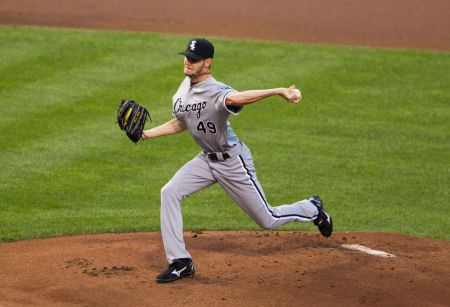 Chris Sale in action