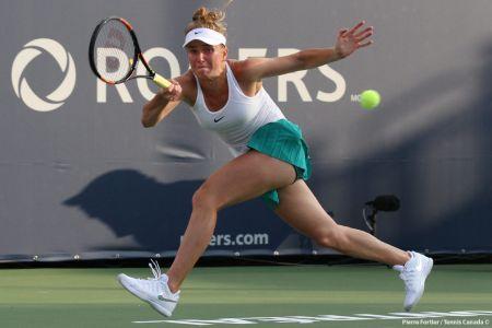 Elina Svitolina got through her second round match against Canada's Francoise Abanda winning 7-5, 7-5