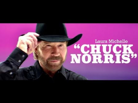 Watch: Chuck Norris gets Laura Michelle to unleash her inner rock star