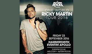 Autism Rocks presents Ricky Martin tickets at Eventim Apollo in London