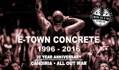 E-Town Concrete 20th Anniversary tickets at Starland Ballroom in Sayreville