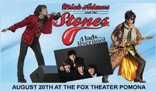 Mick Adams and the Stones, A Tribute to The Rolling Stones with 4 lads from liverpool, A Tribute to The Beatles tickets at Fox Theater Pomona in Pomona