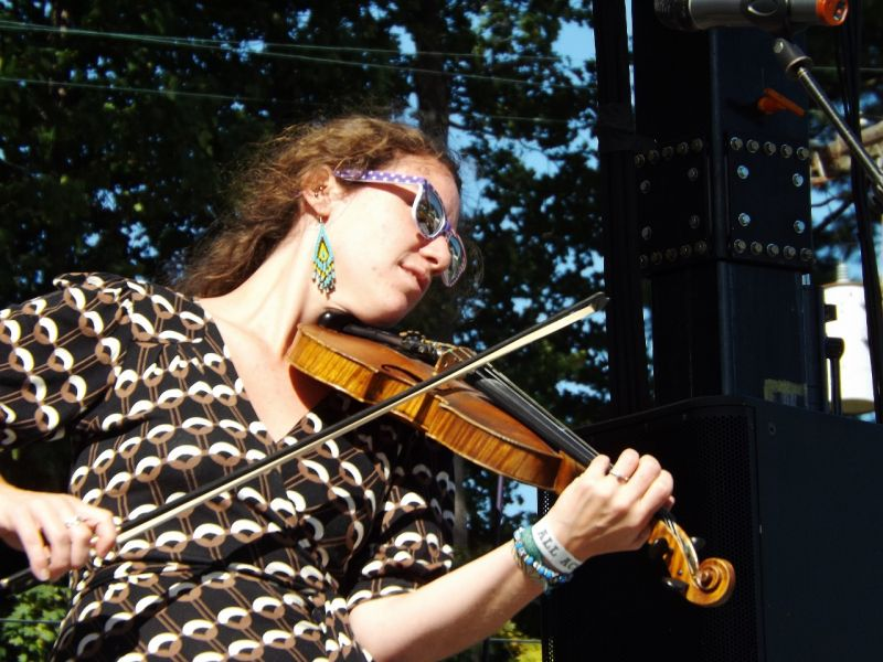 Claire Byrne of Driftwood performs at the 2015 American Music Festival in Lake George.