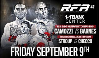Resurrection Fighting Alliance 43: Camozzi vs. Barnes tickets at 1STBANK Center in Broomfield