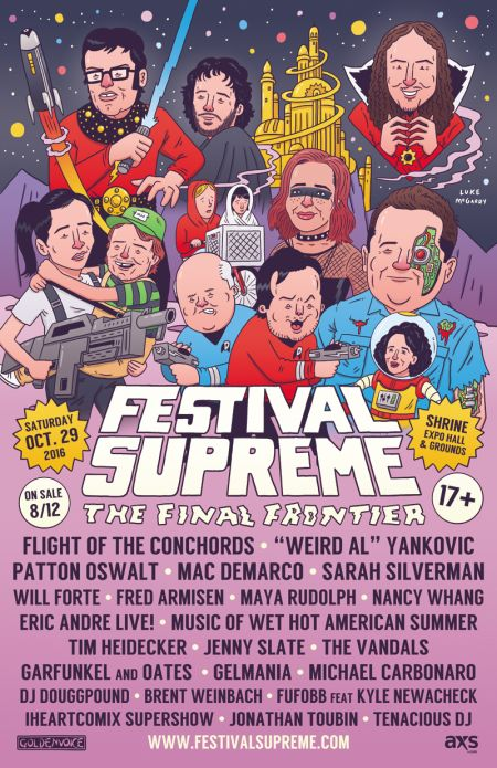 Flight of the Conchords, Weird Al, Patton Oswalt and many more set for Festival Supreme 2016