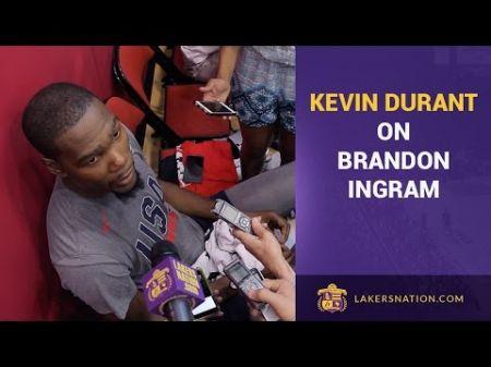 Lakers rookie Brandon Ingram 'idolized' Kevin Durant's game