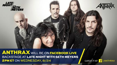 Anthrax to answer fan's questions on Facebook Live