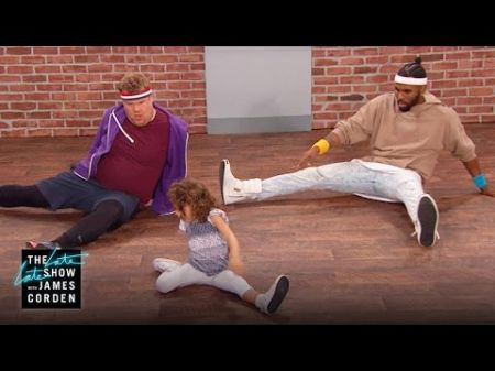 James Corden and Jason Derulo can't keep up with 'Toddlerography' at rigorous class (Watch)