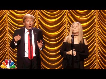 Watch: Barbra Streisand sings duet with Fallon as Trump