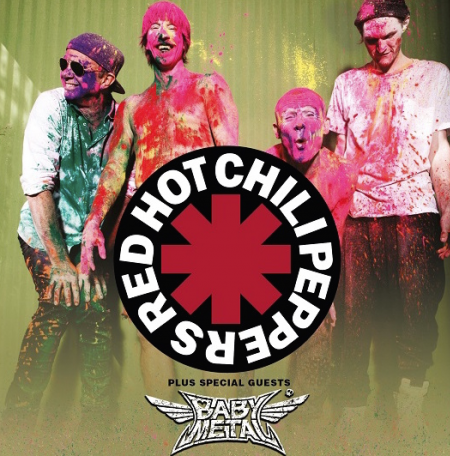 The Red Hot Chili Peppers will kick off a UK Tour, featuring Babymetal, onDec. 5 at The O2 Arena inLondon, England.