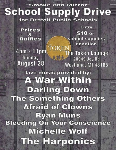 Smoke and Mirror holding school supply drive at The Token Lounge