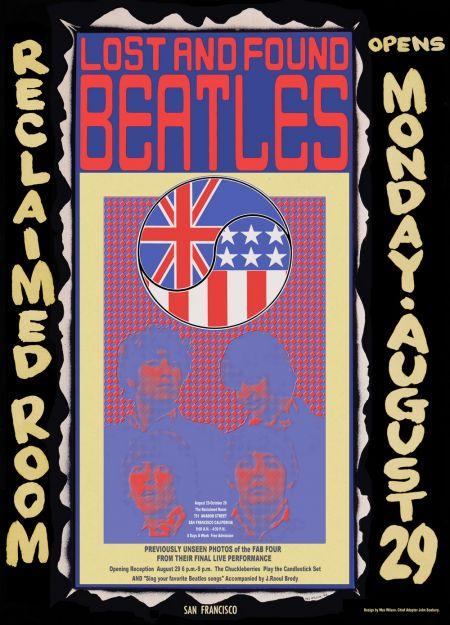 The poster for David Seabury's Beatles Candlestick Park exhibit.