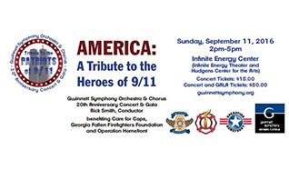 AMERICA: A Tribute to the Patriots of 9/11 tickets at Infinite Energy Theater in Duluth