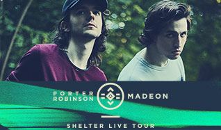 SHELTER LIVE TOUR: Porter Robinson & Madeon tickets at Arvest Bank Theatre at The Midland in Kansas City