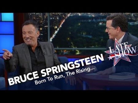 Bruce Springsteen reveals favorite Springsteen songs on 'Late Show'