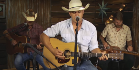 """Jon Pardi performs Randy Travis' """"Forever and Ever Amen"""" for the Forever Country Cover Series."""