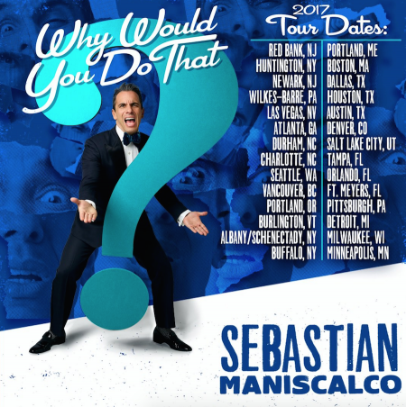 Sebastian Maniscalco's comedy special 'Why Would You Do That' airs this Saturday (Oct. 1) at 10 PM ET/PT on Showtime.