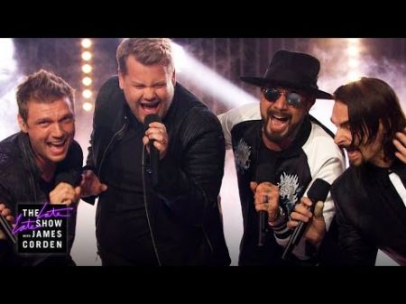 Watch James Corden perform with the Backstreet Boys