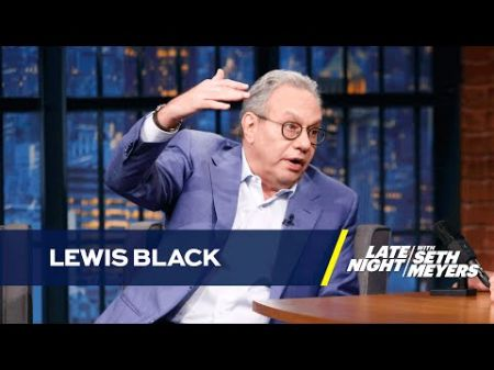 Comedian Lewis Black stops by 'Late Night' to talk Trump amid massive tour