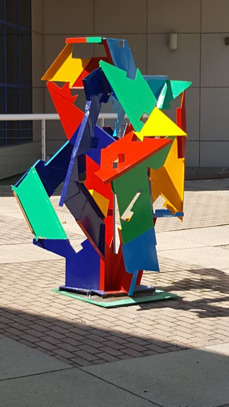 "Michael Poast's sculpture ""Baroque Trajectory"" will stand on view in Ohio."