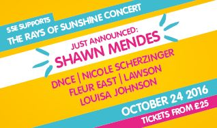 Rays of Sunshine tickets at The SSE Arena, Wembley in London