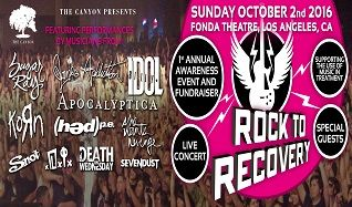 Rock to Recovery  tickets at Fonda Theatre in Los Angeles