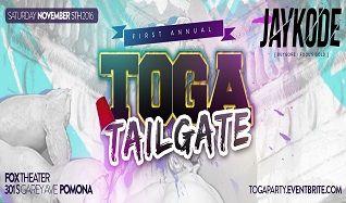 Toga Tailgate Feat. JayKode tickets at Fox Theater Pomona in Pomona