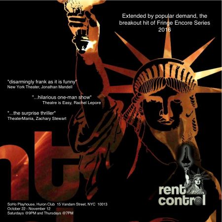 """Evan Zes wrote """"Rent Control"""" which has been very popular at the Fringe."""