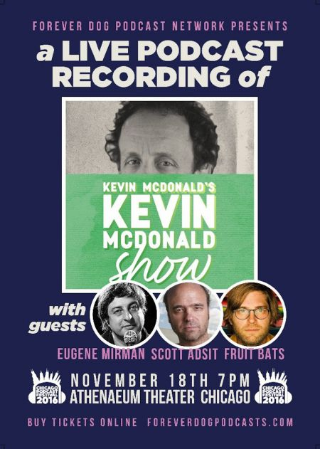Kevin McDonald announces live podcast tapings in Chicago and New York