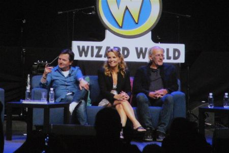 """Michael J. Fox, Lea Thompson, and Christopher Lloyd of """"Back to the Future"""""""