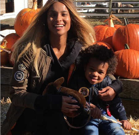 Ciara co-parents her two-year-old son with ex-partner Future.