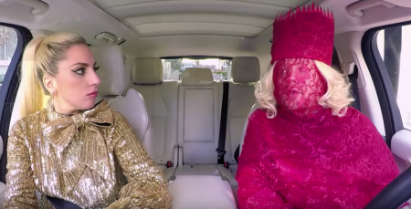 "Lady Gaga joined James Corden for the latest episode of ""Carpool Karaoke"""