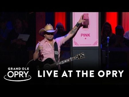 Jason Aldean flips switch for 'Opry Goes Pink' for breast cancer awareness