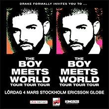 Drake: The Boy Meets World Tour tickets at Ericsson Globe in Stockholm
