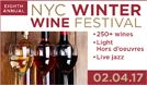 Winter Wine Festival 2017 tickets at PlayStation Theater in New York