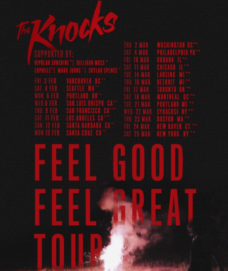 Image result for the knocks i feel good i feel great tour