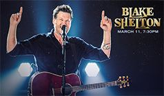 Blake Shelton tickets at Valley View Casino Center in San Diego