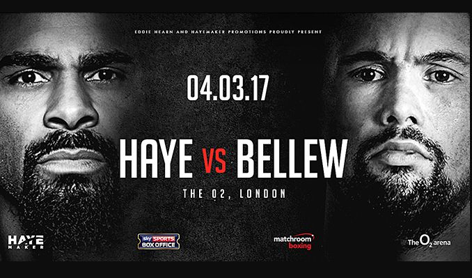 Image result for haye - bellew boxing poster