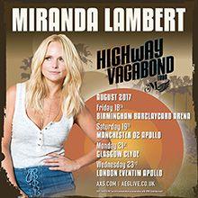Miranda Lambert Uk Tour Support