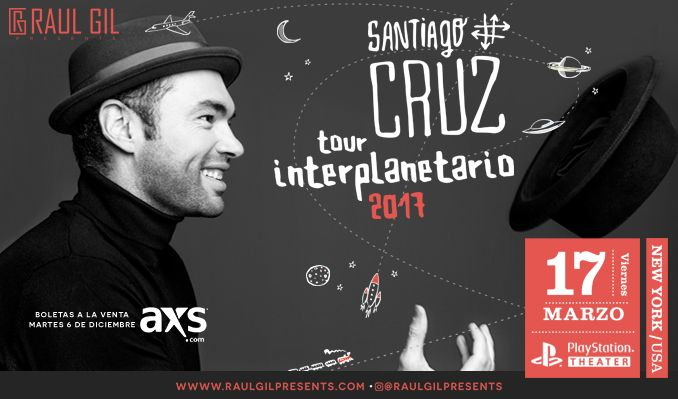Santiago Cruz tickets at PlayStation Theater in New York