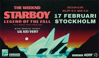 The Weeknd tickets at Ericsson Globe in Stockholm