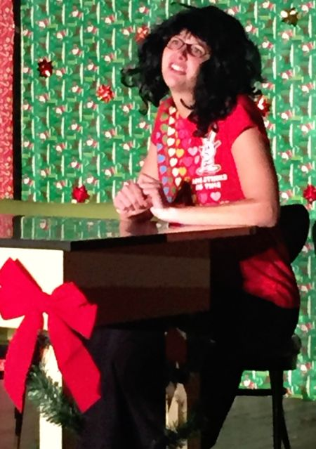 """Katelyn Hoffman as Charlene Bumiller in The Changing Scene Theatre Northwest's """"A Tuna Christmas"""""""
