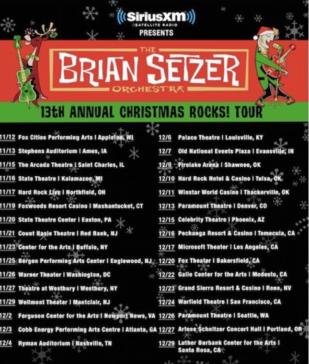 Brian Setzer to get rockin' and rollin' at LA Christmas show