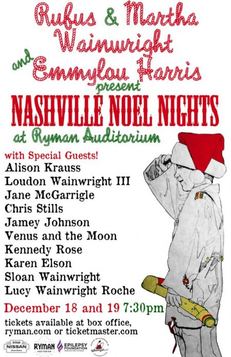 Emmylou Harris and Rufus and Martha Wainwright to bring Nashville Noel Nights to Music City.