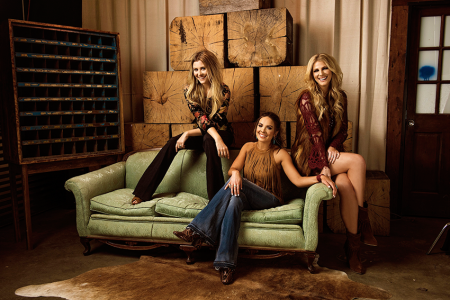 "Runaway June take debut single ""Lipstick"" to Top 30 at radio."
