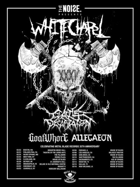 Whitechapel, Cattle Decapitation and more to celebrate Metal Blade Records' 35th Anniversary with tour