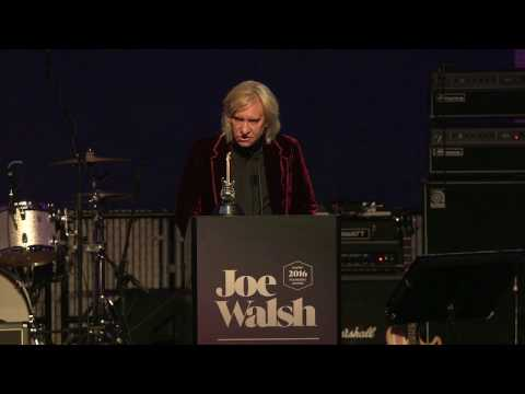 See video and pictures of Ringo Starr's speech to honor Joe Walsh at Seattle's Museum of Popular Culture
