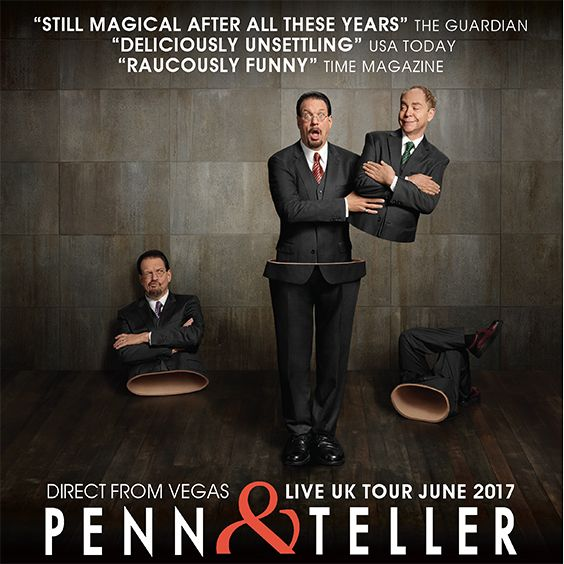 Penn & Teller - EXTRA DATE ADDED tickets at Clyde Auditorium in Glasgow